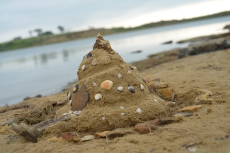 Sandcastle found on the bank of Lake WIlson
